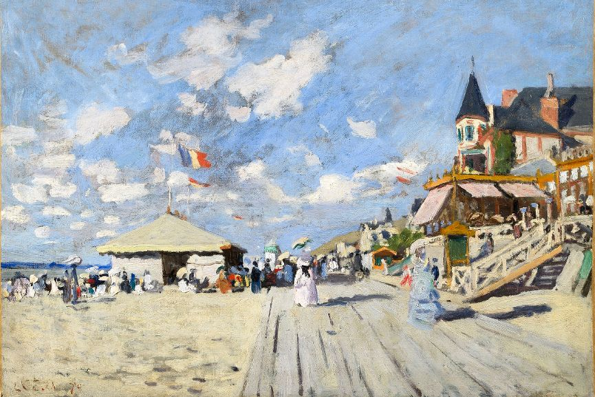 On the Boardwalk at Trouville (Sur les Planches de Trouville), 1870