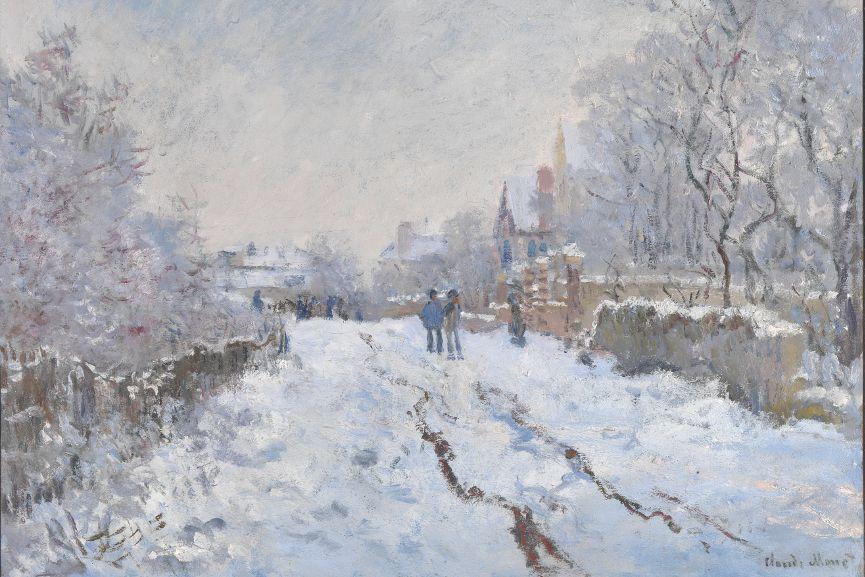 Street under Snow, Argenteuil (Rue sous la neige, Argenteuil), 1875