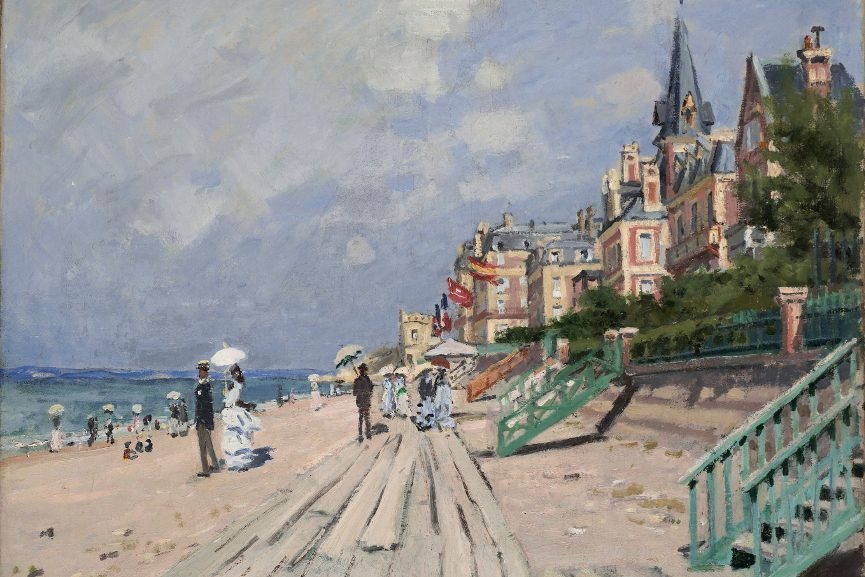 The Beach at Trouville (La Plage à Trouville), 1870 © Allen Phillips, Wadsworth Atheneum