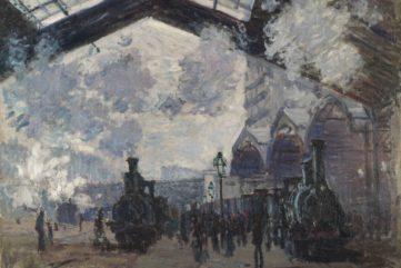 Claude Monet - The Saint-Lazare Railway Station (La Gare Saint-Lazare), 1877