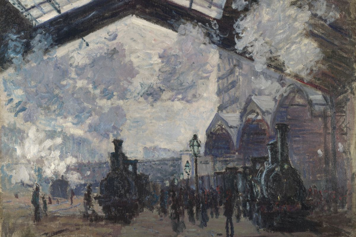 Claude Monet - The Saint-Lazare Railway Station (La Gare Saint-Lazare), 1877