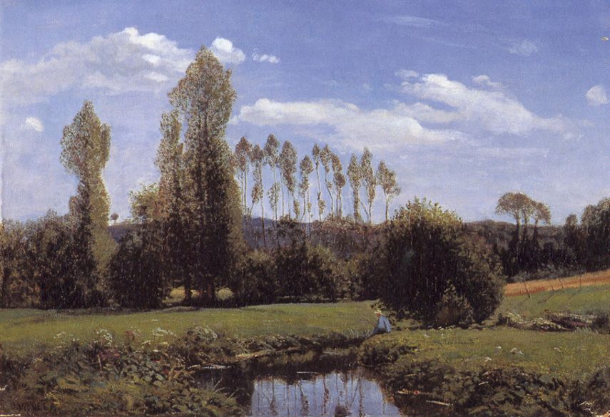 Claude Monet - View At Rouelles,1858