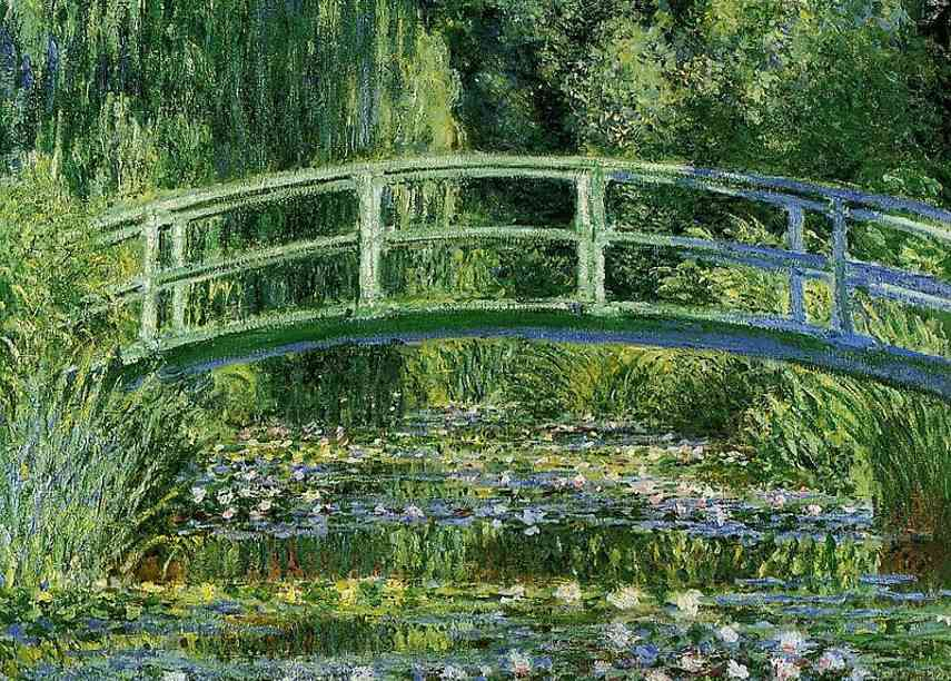 Claude Monet - Water Lilies and the Japanese bridge (detail), 1897