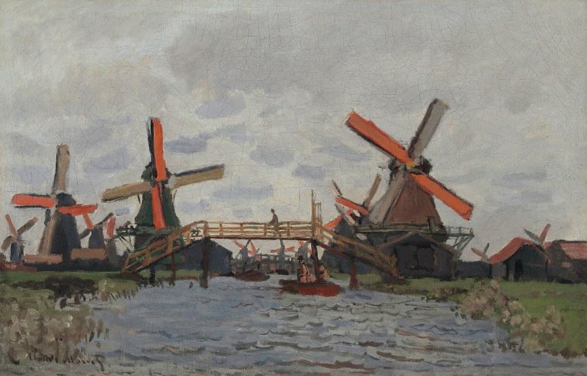 Windmills near Zaandam (Moulins près Zaandam), 1871
