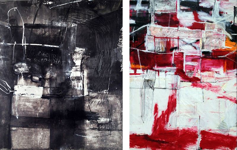 abstract art, painting, layers, Claudia Barthoi - Slower Darling, 2013, The Rise and Fall of Phoenix, 2014