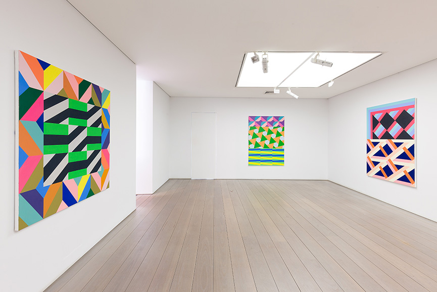 Claudia Damichi, Installation view Colour Matters, Olsen Gallery 2018