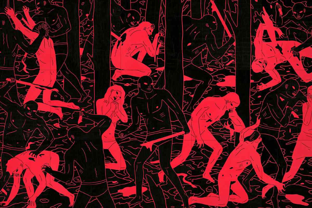Cleon Peterson's creepy art pieces are full of chaos and violence and are products of many problems we face in the contemporary world