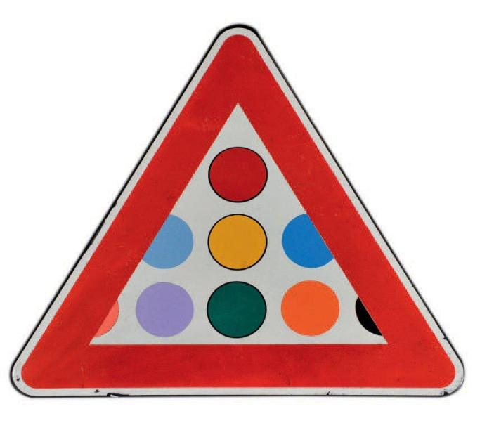 Clet Abraham - Triangle (unique), 2013