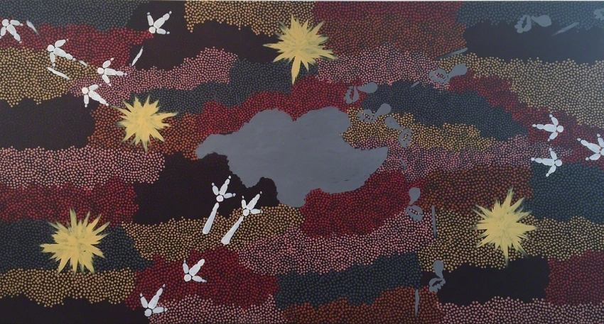 Clifford Possum Tjapaltjarri - Emu Dreaming, 1996, photo credits - Rebecca Hossack Art Gallery national gallery