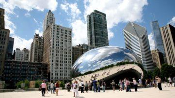 Chicago Bean by Anish Kapoor in Chicago City (33 feet × 42 feet × 66 feet) in Chicago Millennium Park