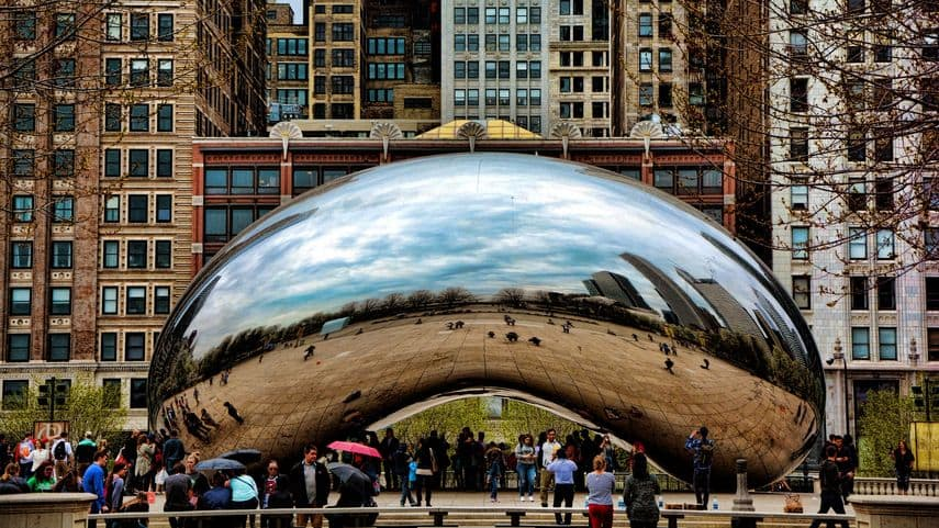 Chicago Bean by Anish Kapoor at Chicago Millennium Park