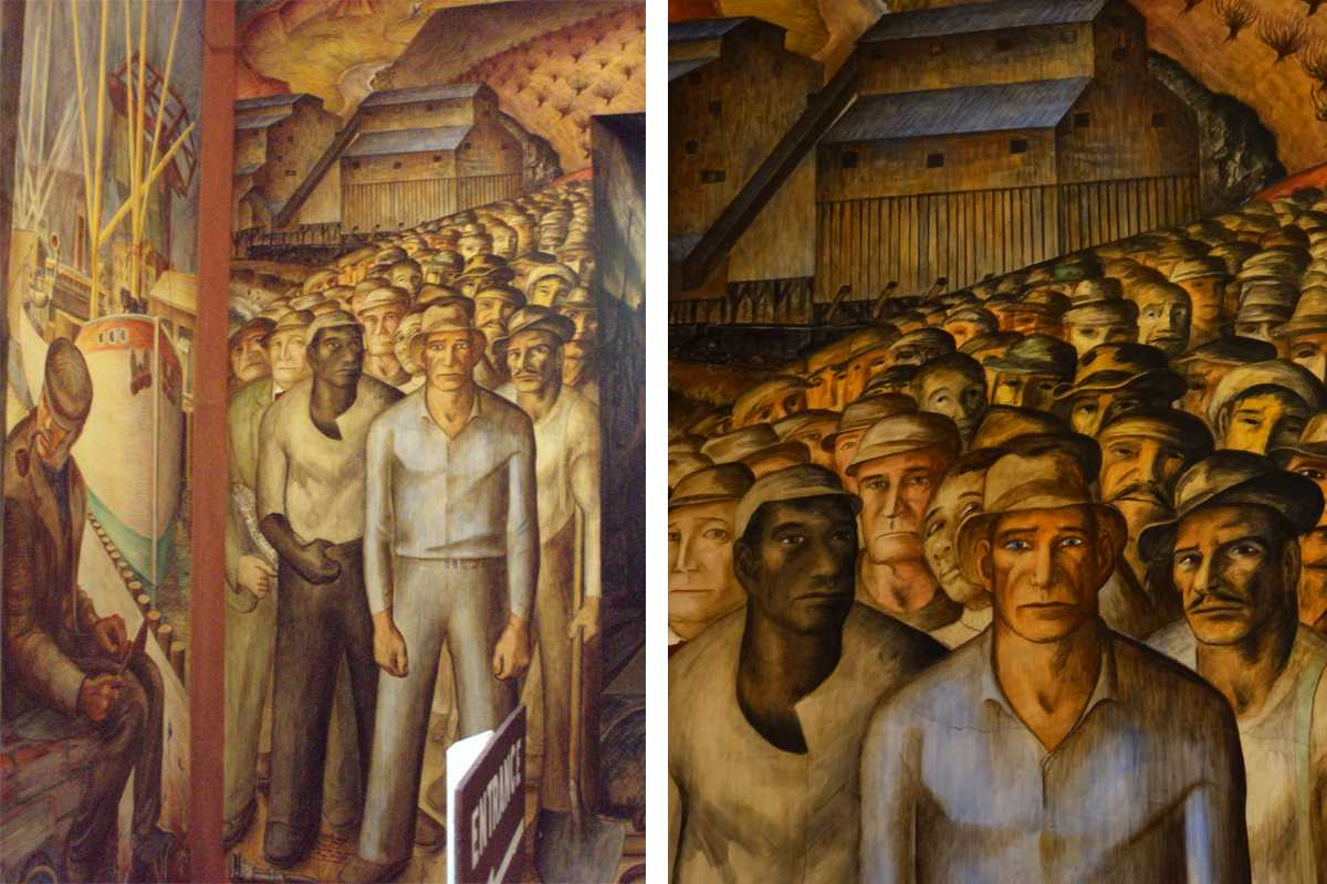 10 labour rights murals widewalls for Coit tower mural artists