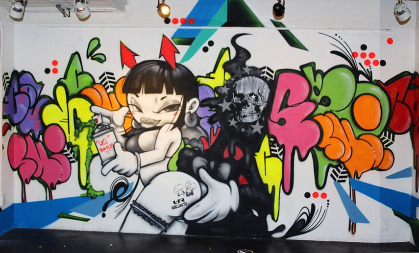 Col Wallnuts - Untitled piece by Wallnuts Crew (Col, Ski, 2esae, Shiro, Lootone)