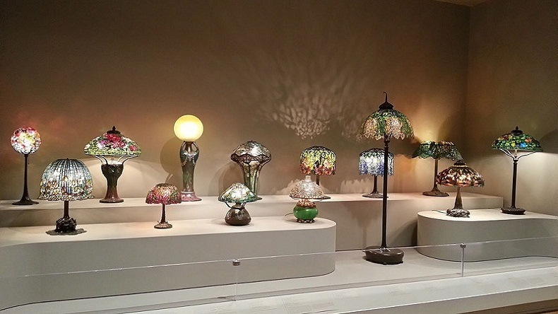 Collection of Tiffany Lamps from the Virginia Museum of Fine Arts