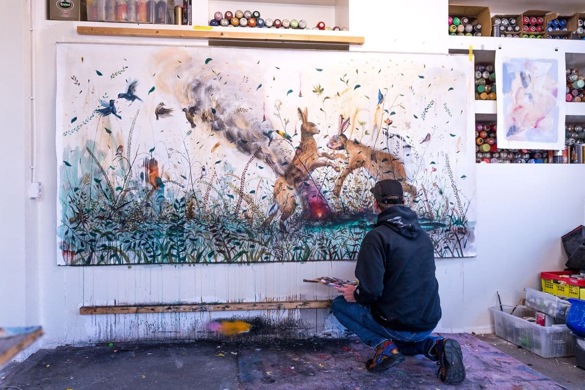Collin van der Sluijs in his studio, 2018