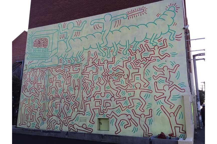 Collingwood Technical School, 1984, preserved by Keith Haring Foundation