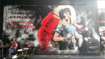 combo, nationalist graffiti, paris, mural, culture, work, time,