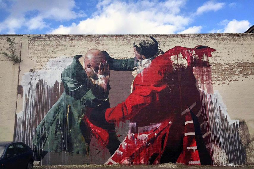 Conor Harrington mural in Walthamstow london tour