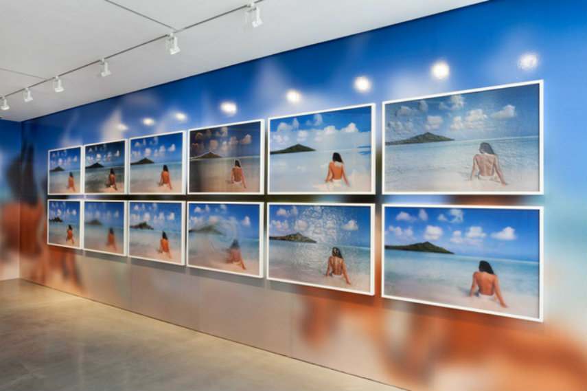 Constant Dullaart - Jennifer in Paradise (installation view), 2014 gallery internet 2013 people