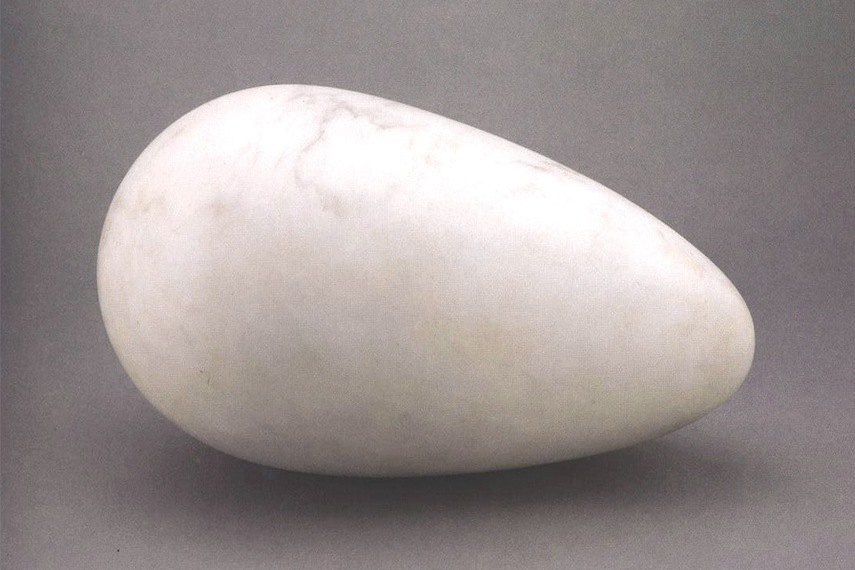 Romanian french artist who lived in New York, Brancusi, sculpted abstracted human faces
