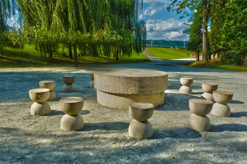 Table of Silence is a decisively modern work by french romanian artist Brancusi
