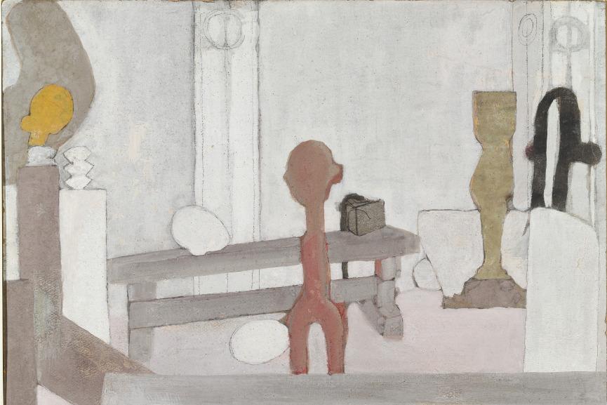 View of the Artist's Studio, 1918