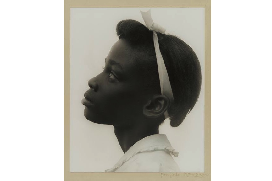 Consuelo Kanaga - Young Girl in Profile, 1948, from the New York gallery on view at MFA