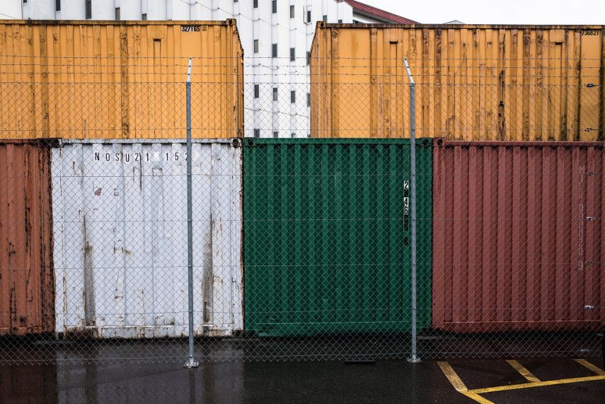 Containers stacked at the Geneva Free Port zone - Image by Fred Home Merz, made for The New York Times