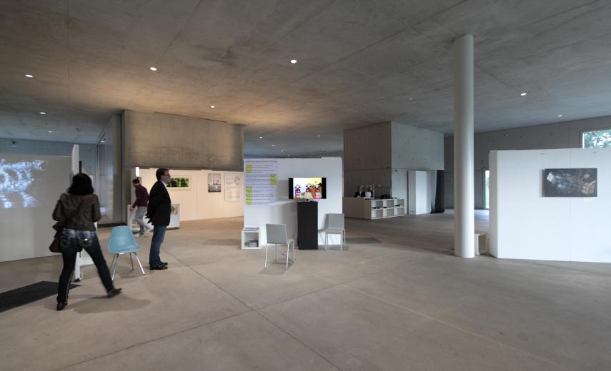 Contemporary Artists Ruhr media artist fair in the SANAA building at Zollverein, Essen Work, Germany, 2014