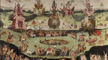 Contemporary follower of Hieronymus Bosch - The Garden of Earthly Delights (detail), 1515 at fantastic art exhibition