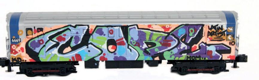 Cope 2 - Train miniature, 2013 (25 x 8 x 6 cm) - lot 21