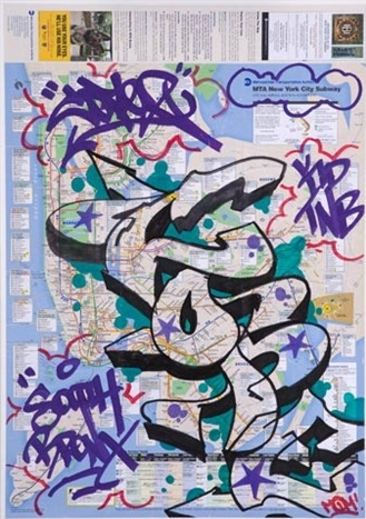 Cope2-New York City Subway Map with Graffiti-2007