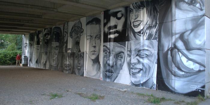 Cosmo Sarson - Interactive mural, 2014