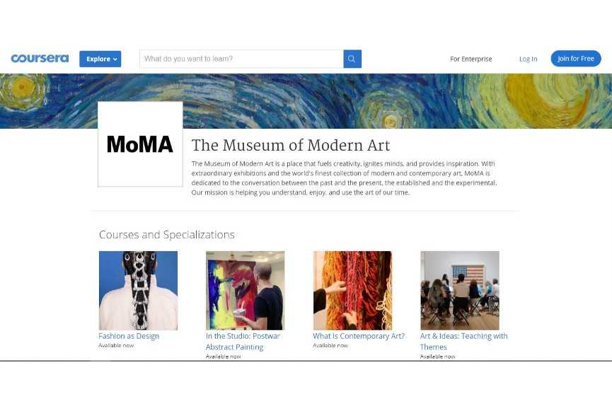 Coursera Courses by MoMA
