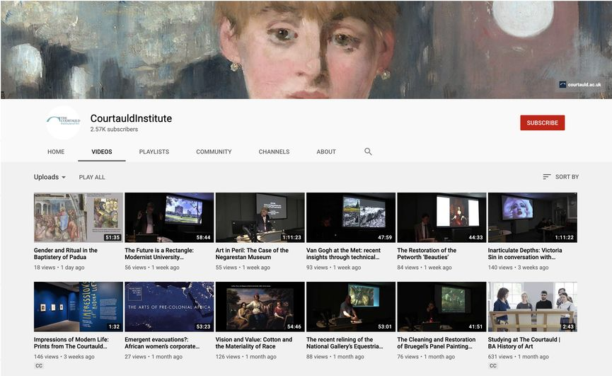 Courtauld Institute YouTube Channel