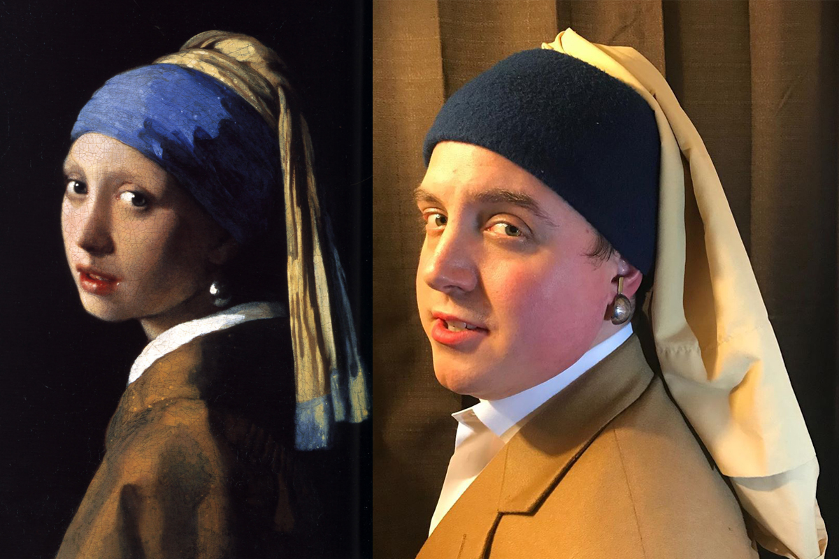 Covid Classics Girl with the Pearl Earring