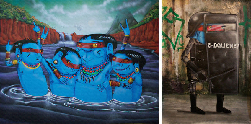 Cranio - Falesias, 2016 (Left) - Choque Ne, 2016 (Right), images via Vroom & Vaorssieau