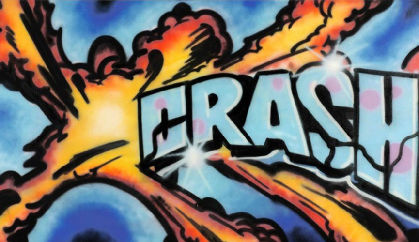 Crash graffiti