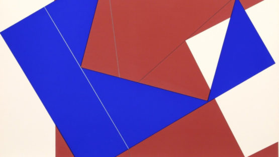 Cris Cristofaro - Untitled - Blue and Red Rectangles, 1978 (detail)