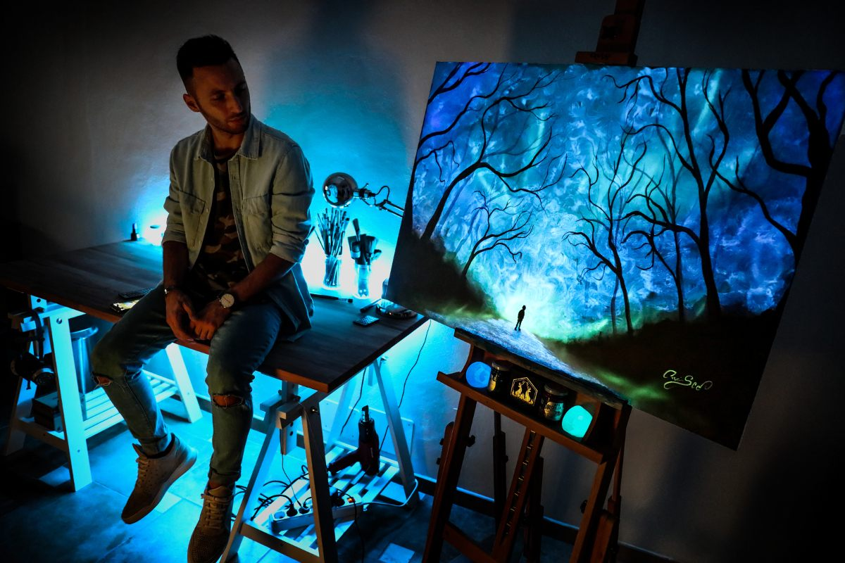 Crisco Art is the only art that can glow in the dark, and art that can glow is a hard thing to find