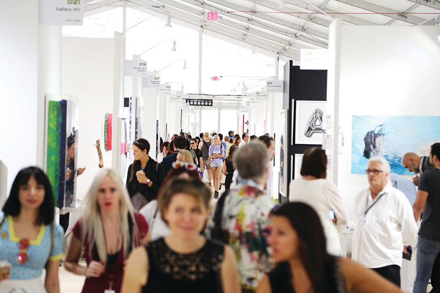 Crowds Inside SCOPE Miami Beach, scope VIP