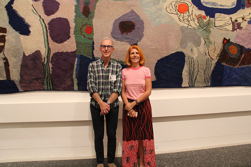 Curators Silvia Barisione and Gianni Franzone