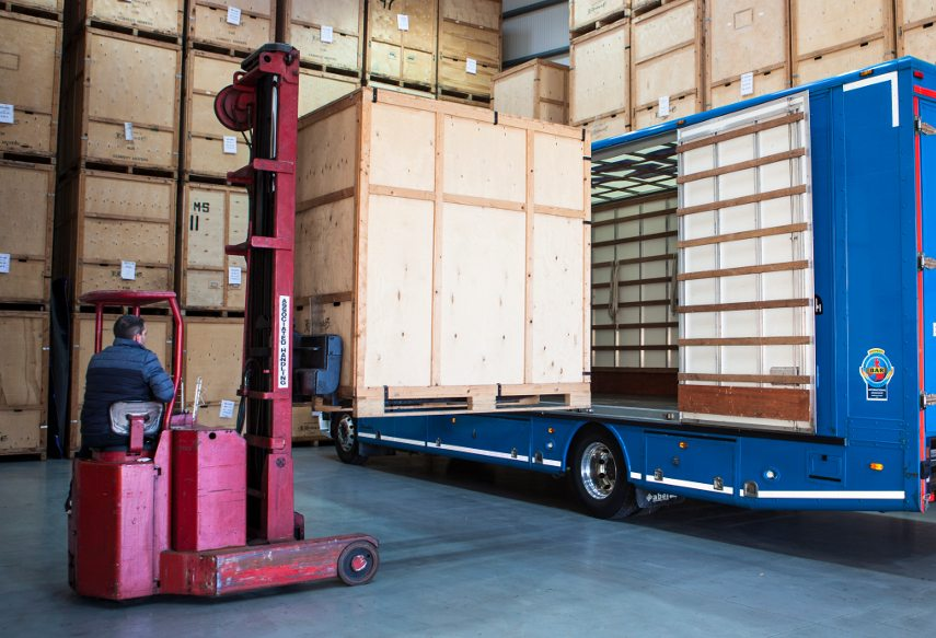 Custom-made crates are the heart and soul of art transportation