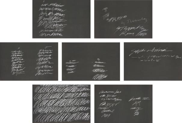 Cy Twombly-8 Odi di Orazio: seven plates-1968