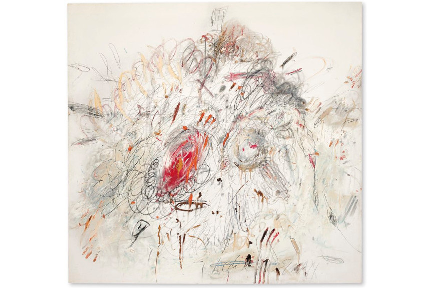 Cy Twombly - Leda And The Swan, 1962, million work sale paintings