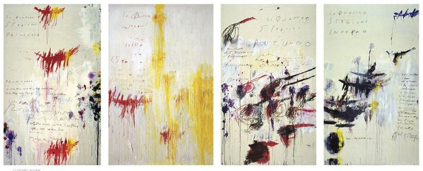 Cy Twombly - The Four Seasons - Spring, Summer, Autumn, and Winter, 1993-94