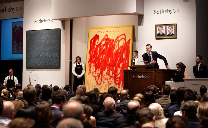 Cy Twombly's Artwork at an Sotheby's Auction