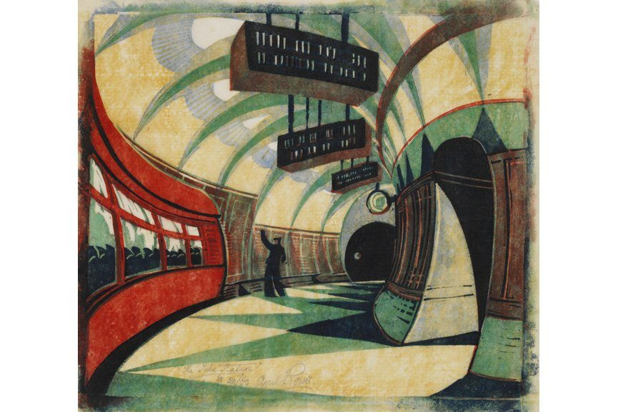 Cyril Power - The Tube Station, 1932, Courtesy Osborne Samuel