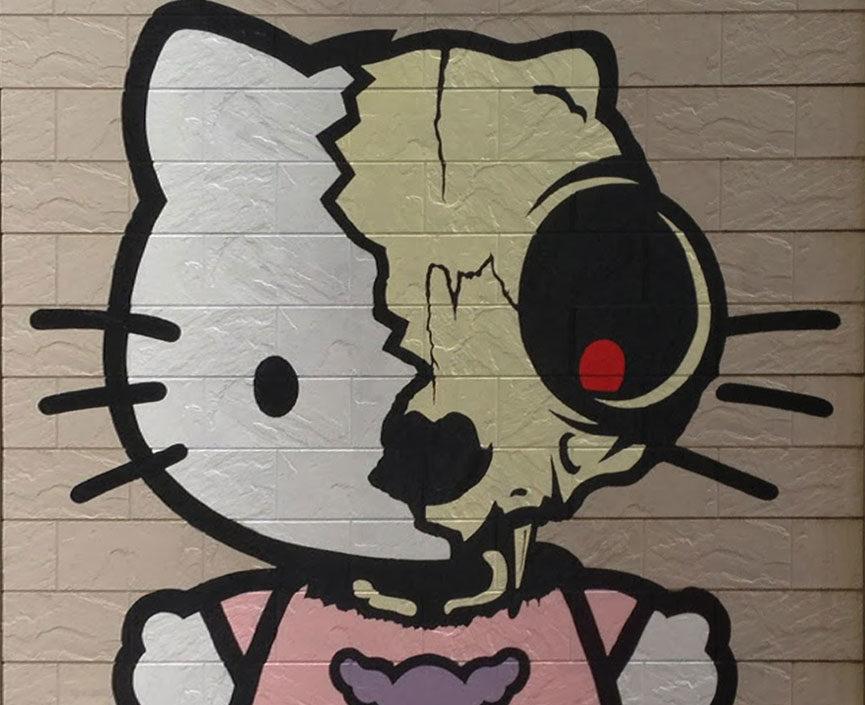 Hello Kitty street art