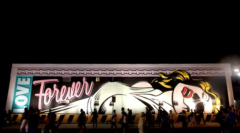 DFace - Love Forever - Las Vegas, 2015 - at night
